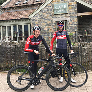 Global Cycling Network Simon Richardson and Daniel Lloyd visited Cafe Gorge today, to refuel.